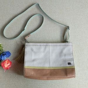 The Sak Crossbody Purse Small Colorblock Leather